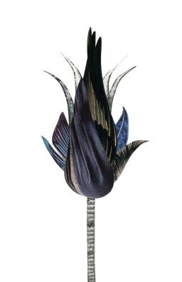 Dark Feather Flower, 5.5 x 8.5 inches