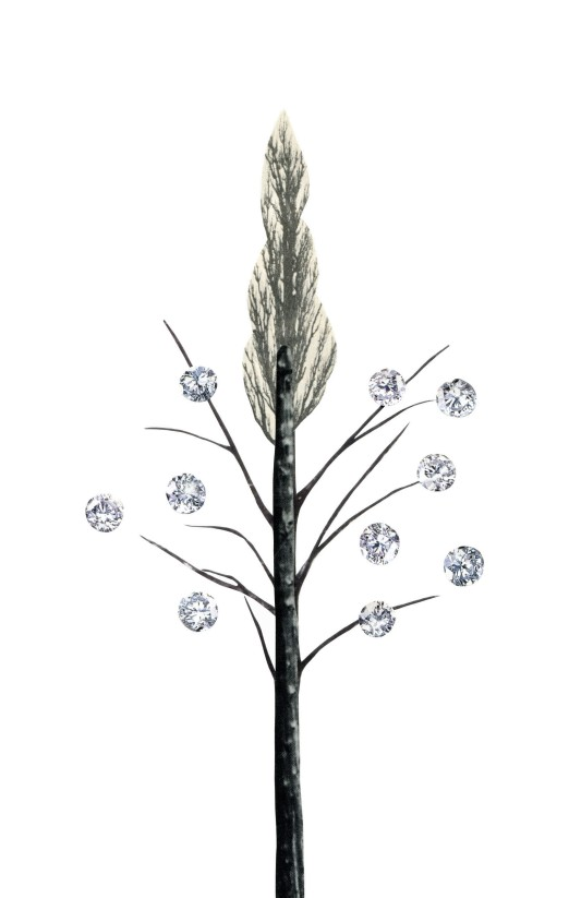 Diamond Berry Tree, 5.5 x 8.5 inches