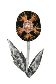 Peach Stone flower, 4 x 6 inches